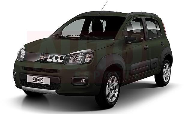 Projeção revela visual do Fiat Uno Way (Foto: Yuri Queiroz/Autoesporte)