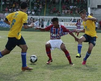 4b897e040d Bahia bate seleção de Votorantim e se classifica às quartas de final no  sub-15
