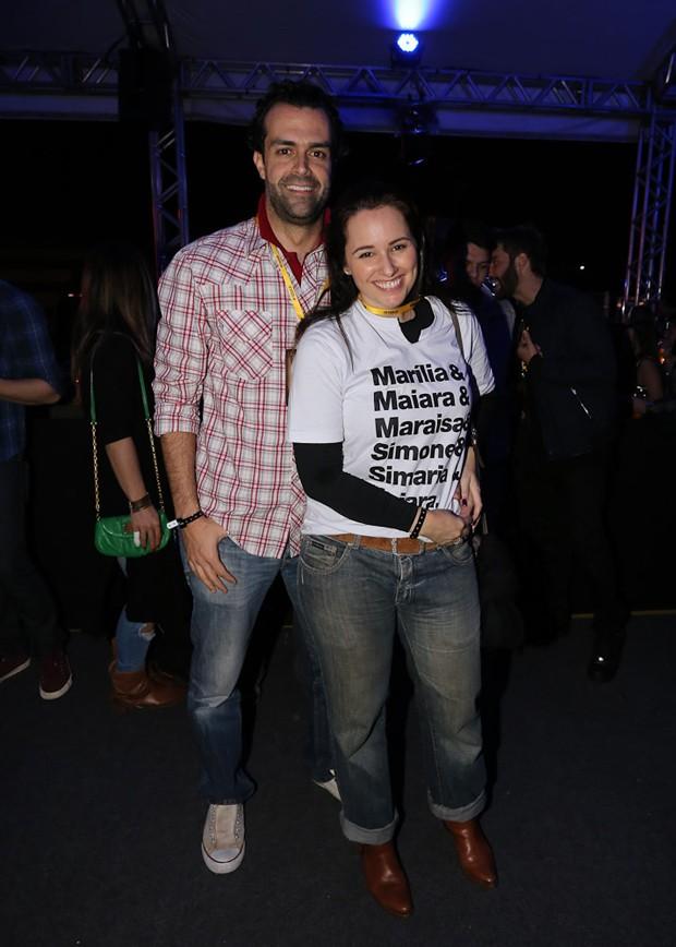 Cristiano Saab e Mariana Belém (Foto: Cláudio Augusto/Brazil News)