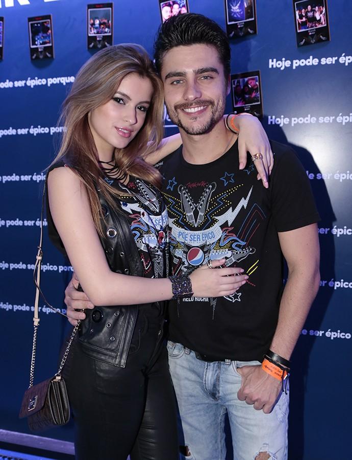 Guilherme Leicam e a namorada Bruna Altieri (Foto: Felipe Monteiro/Gshow)