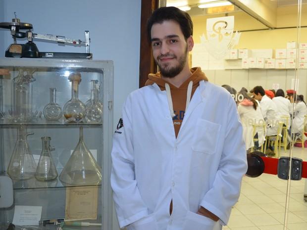 Sameh é refugiado sírio no Brasil e escolheu o Campus da Unicamp em Piracicaba (Foto: Claudia Assencio/G1)