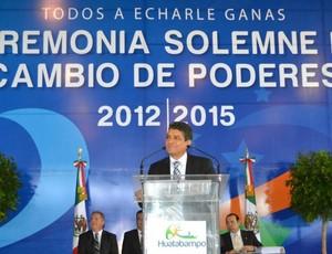 O prefeito Ramón Díaz Nieblas assume o cargo em Huatabampo (Foto: Divulgação)
