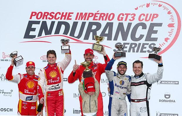Pódio categoria Cup (Foto: Luca Bassani/PorscheCup)