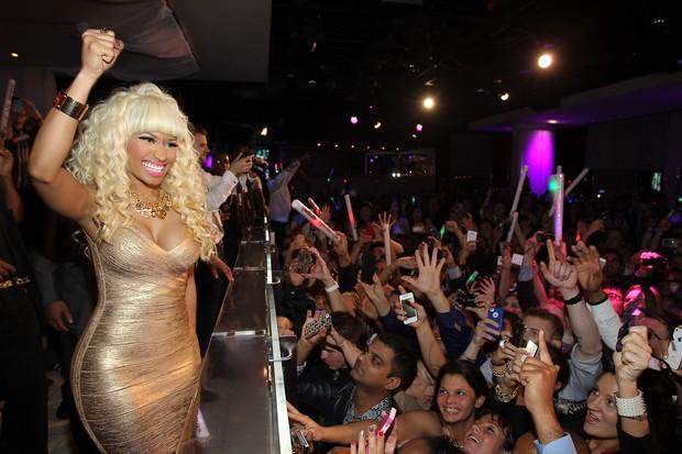 Nicki Minaj em festa de Ano Novo em boate em Las Vegas, nos Estados Unidos (Foto: Jonathan Leibson/ Getty Images/ Agência)
