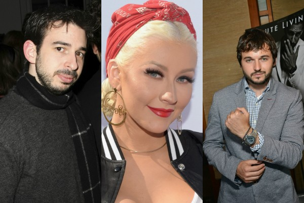 Jordan Bratman, Christina Aguilera e Matt Rutler (Foto: Getty Images)