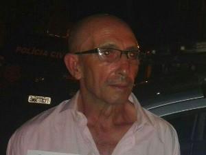 Procurado pela Interpol, espanhol Enrique Gomez Perez foi preso em Niquelândia, Goiás (Foto: Divulgação/Polícia Militar)
