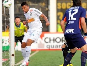 """André marca o gol em """"impedimento triplo"""" na Vila (Foto: Marcos Ribolli/Globoesporte.com)"""