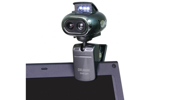 Webcam tem luz embutida, microfone e permite ajustes completos (Foto: Divulgação/Dr.Hank) (Foto: Webcam tem luz embutida, microfone e permite ajustes completos (Foto: Divulgação/Dr.Hank))