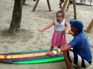 Projeto social atende também crianças com síndrome de down (Foto: Arquivo pessoal)