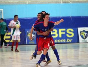 Felipe, do Alecrim, comemora gol na Taça Brasil de Futsal, em Assú (Foto: Zerosa Filho/CBFS/Divulgação)