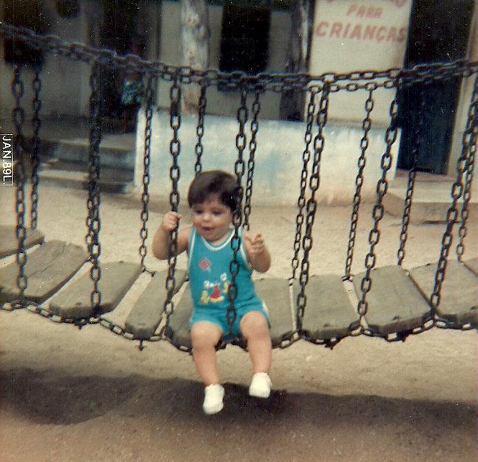 Vitor Zucolotti com 1 ano no Parque Moscoso (Foto: Arquivo Pessoal )