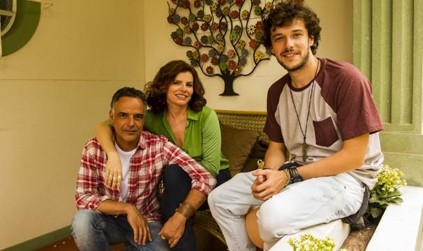 Lígia (Debora Bloch), Vicente (Angelo Antônio) e Pedro (Jayme Matarazzo), personagens de Sete Vidas (Foto: João Miguel JR./Globo)