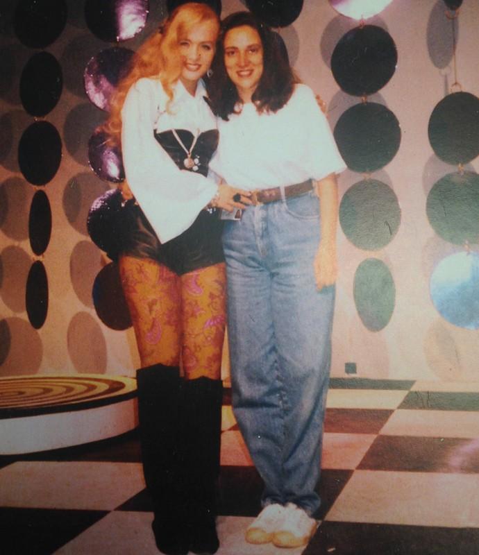 Angélica e Regina, mãe do humorista Adnet (Foto: Arquivo pessoal)