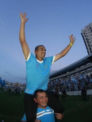 Lecheva conseguiu levar o Paysandu para a Série B (Foto: Tarso Sarraf/O Liberal)