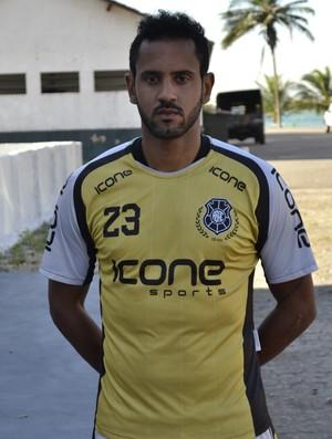 Bruno Simões, zagueiro do Rio Branco-ES (Foto: Sidney Magno Novo/GloboEsporte.com)