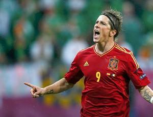 Fernando Torres, Espanha x Irlanda (Foto: Agência Reuters)