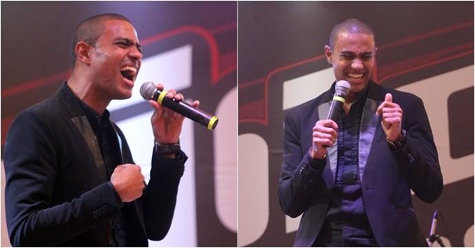 Romero Ribeiro levou seu estilo ao palco do The Voice Pocket em Fortaleza. (Foto: Luanna Gondim / TV Verdes Mares)