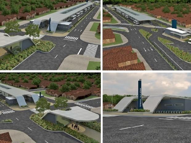 Projeto do novo Terminal Vila Sônia, apresentado pela Prefeitura de Piracicaba (Foto: Reprodução/Prefeitura de Piracicaba)
