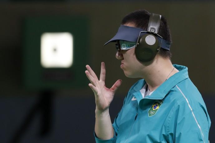 Felipe Wu medalha de prata tiro esportivo (Foto: AP)