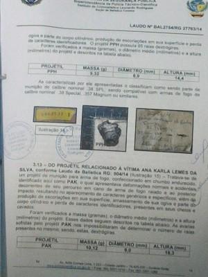 Exame de balística confirmou que prójetil saiu de arma do vigilante Goiás Goiânia (Foto: Reprodução/TV Anhanguera)