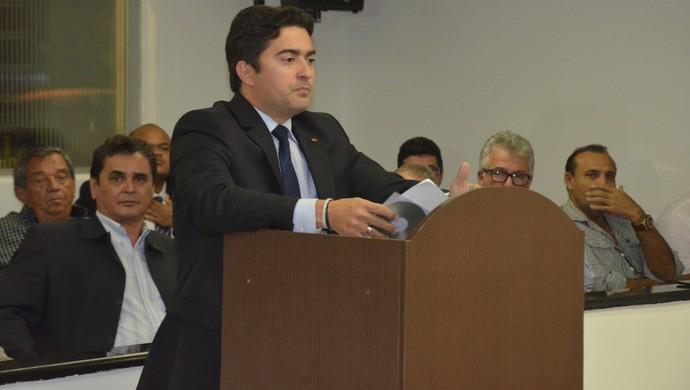 George Ramalho, advogado do Treze (Foto: Edgley Lemos / GloboEsporte.com/pb)