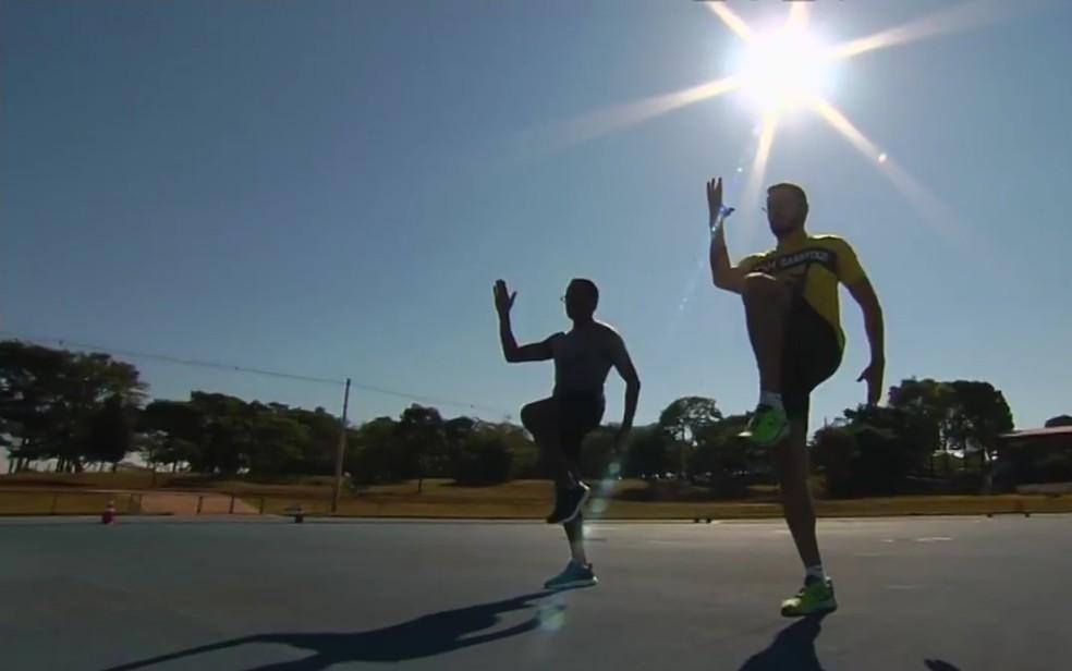 Atletas relatam melhora no desempenho após consumo de açafrão (Foto: Reprodução/TV Anhanguera)