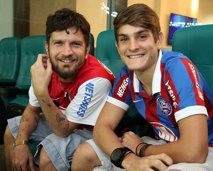 Saulo e João Lucas, o seu filho mais velho (Foto: Divulgação)