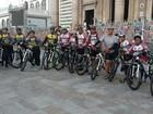 Romeiros de Paragominas chegam a Belém após pedalarem por 20 horas