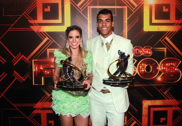 Os campeões  Marcello Melo Jr. e Raquel Guarini  (Foto: Celso Tavares/EGO)