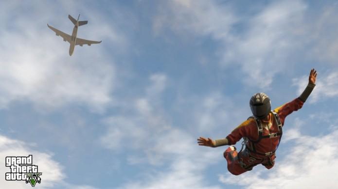 GTA 5 paraquedismo (Foto: Reprodução)