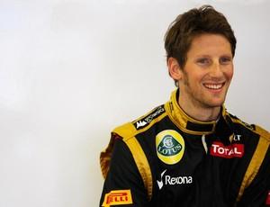 Romain Grosjean conseguiu primeiro pódio na carreira, no GP do Bahrein (Foto: Getty Images)