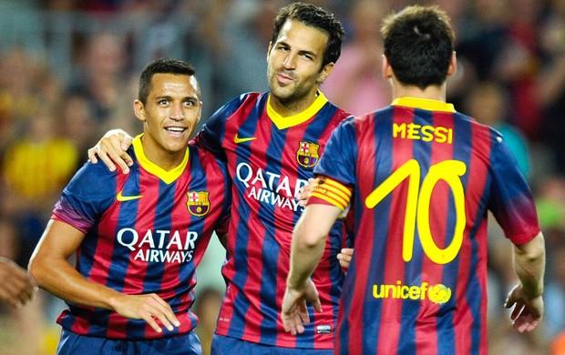 Fabregas e Sanchez Barcelona (Foto: Getty Images)