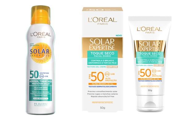 Para o corpo ou para o rosto, Solar Expertise tem os melhores produtos para o seu vero. (Foto: Divulgao / L'Oral Paris)