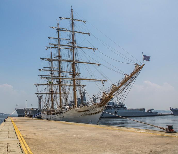 Navio veleiro Cisne Branco foi construído na Holano e entregue ao Brasil em 2000 (Foto: Fábio Rocha/Gshow)