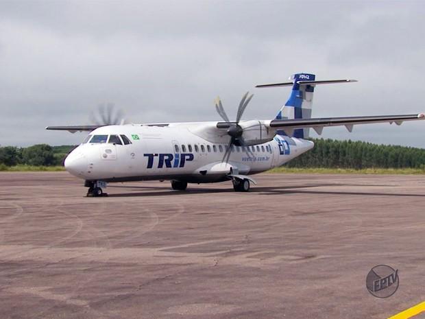 Aeroporto de Varginha volta a realizar voos diários nesta segunda-feira (1º) (Foto: Reprodução EPTV)