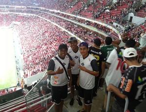 Jogadores do Mixto na Arena Mané Garrincha (Foto: Reprodução/Facebook)