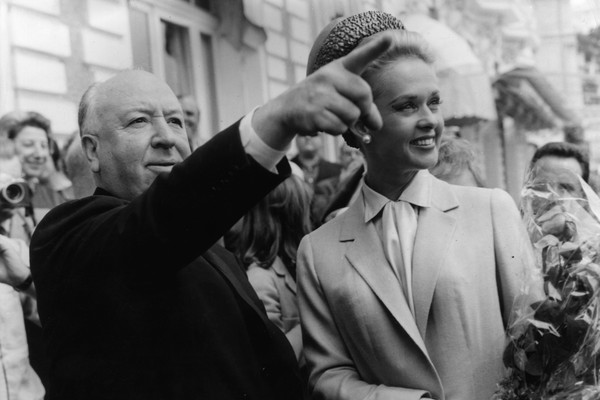 Alfred Hitchcock e Tippi Hedren (Foto: Getty Images)