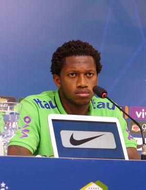 Fred entrevista coletiva Seleção (Foto: Richard Souza)