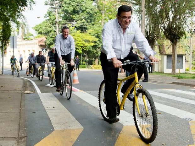 Campus da Usp de Piracicaba inaugura ciclofaixas (Foto: Gerhard Waller/Esalq)