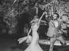 Louise D'Tuani divulga foto inédita de seu casamento com Eduardo Sterblitch