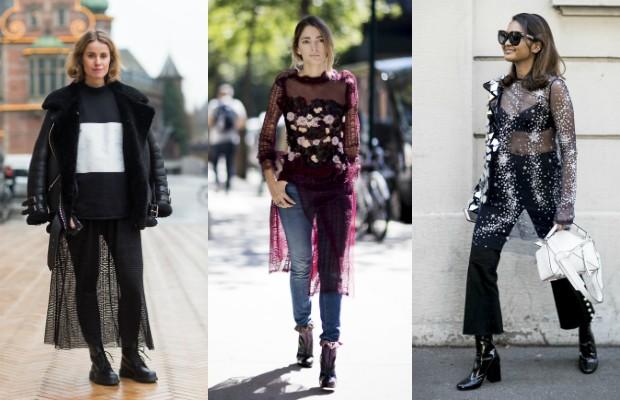 Com calça o look fica moderno e mais comportado (Foto: Imaxtree)