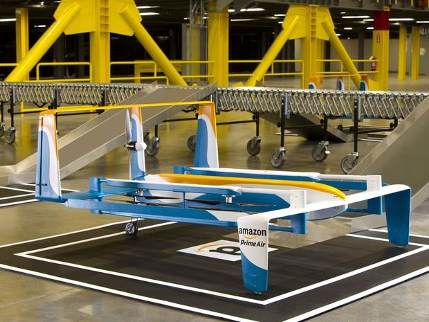 Prime Air, novo drone da Amazon para realizar entregas de produtos. (Foto: Divulgação/Amazon)