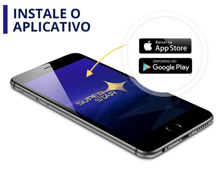 Instale o app SuperStar (Foto: Gshow)
