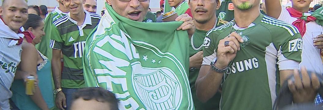 Torcida em Porto Velho comemora vitória do Palmeiras no Brasileirão