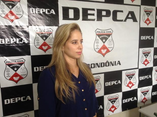 Delegada Noelle Leite contou como foram as investigações até a prisão do suspeito (Foto: Karla Cabral/G1)