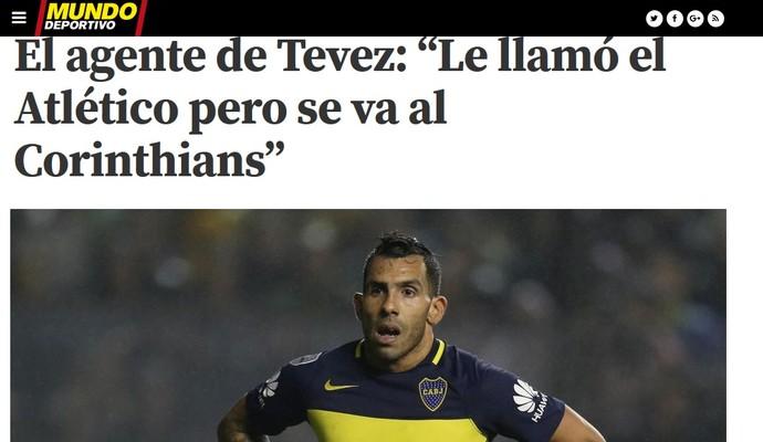 Tevez Mundo Deportivo (Foto: Reprodução)