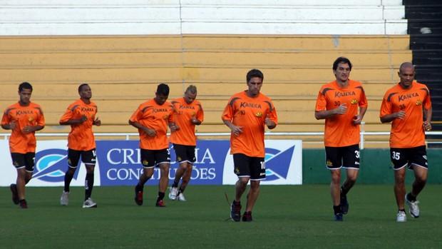 Jogadores do Criciúma treino H.H. (Foto: Fernando Ribeiro / Criciúma EC)