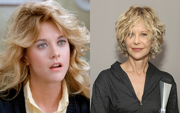 Meg Ryan em 1989 e em 2016 (Foto: Reprodução / Getty Images)