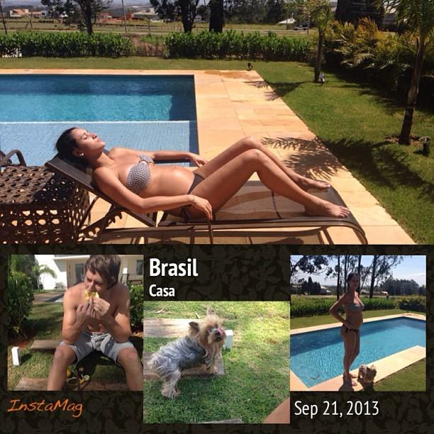 Jaqueline exibe barriga (Foto: Reprodução/Instagram)