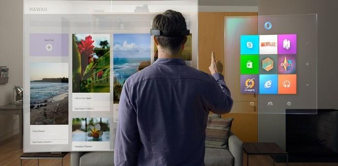 Distância da projeção será de dois metros para garantir conforto ao usuário (Foto: Divulgação/Microsoft)